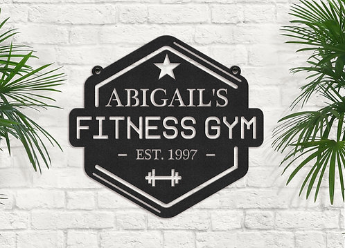 Custom Fitness Center Sign, Personalized Gym Sign