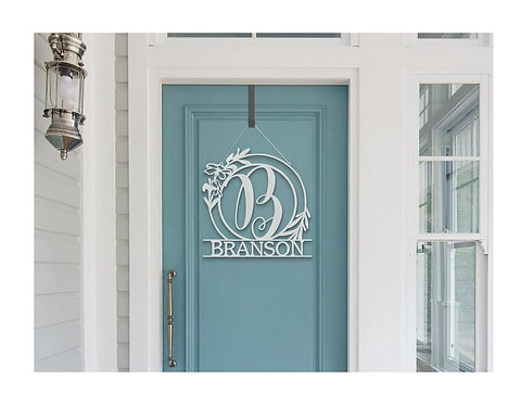 Fresh Spring Custom Door Decor Metal Sign