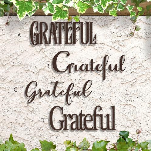 Grateful Wall Decor, Grateful Metal Word Sign