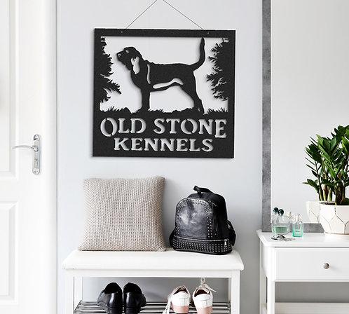 Bloodhound hound dog custom metal signs