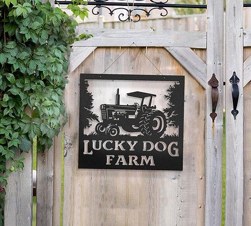 International 1066 Tractor Metal Farm Sign