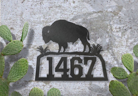Metal Address Sign, Southwestern House Numbers