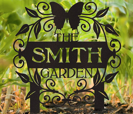 Family Garden Butterfly Stake Sign, Butterfly Memorial Sign