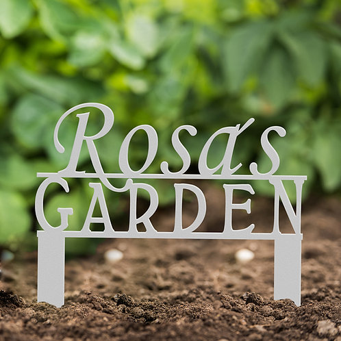 Your Name Custom Metal Garden Marker Sign