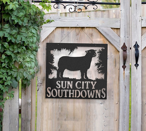 Southdown Sheep Metal Farm Sign