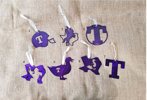 Tarleton State University Metal Ornaments