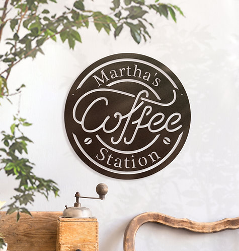 Custom Coffee station, Your Name Coffee Sign