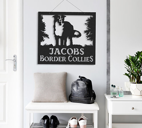Border Collie Collie dog Indoor or Outdoor Metal Signs Herding Working Dog