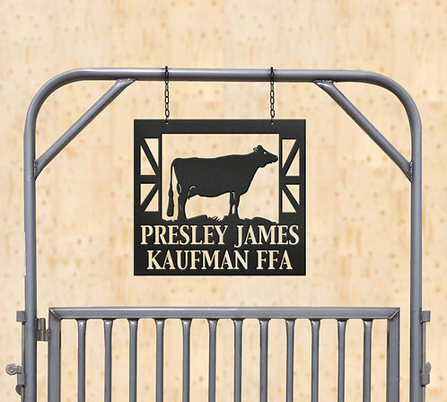 Dairy Show Heifer Metal Sign