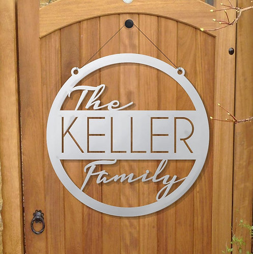 Family Name Sign | Outdoor Family Sign | Family Bold Sign