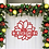 Thumbnail: Winter Poinsettia Metal Name | Framed Family Name | Custom Name Door Sign