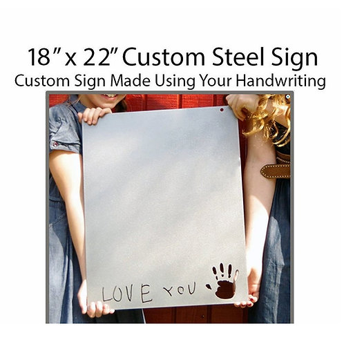 Handwritten Metal Message Art Board, Use Your Own Handwriting, Inspirational Per
