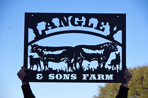 Custom Cattle Company Steel Sign