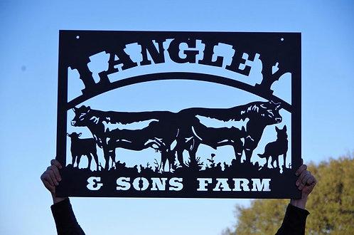 Custom Cattle Company Steel Sign