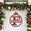 Thumbnail: Ornament Framed Family Initial | Christmas Letter Door Sign