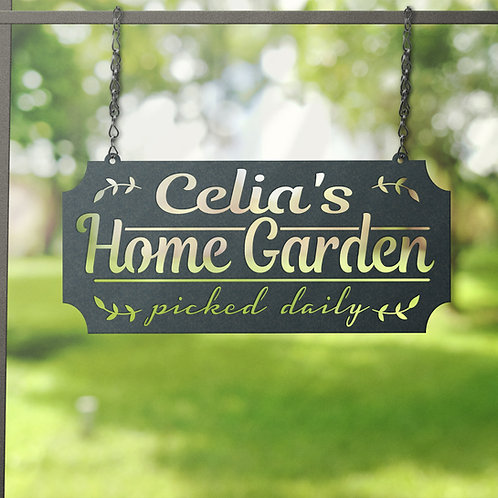 Personalized Garden Sign ~ Picked Daily Metal Hanging Sign