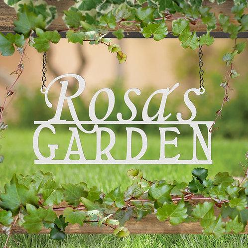 Custom Hanging Garden Sign, Metal Garden Sign