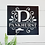 Thumbnail: Decorative Square Split Monogram Metal Family Name Sign