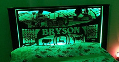Bryson farm sign used as a head board.jp