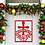 Thumbnail: Cross Frame Name Custom Metal Front Door Hanger Sign I Poinsettia Cross Christma
