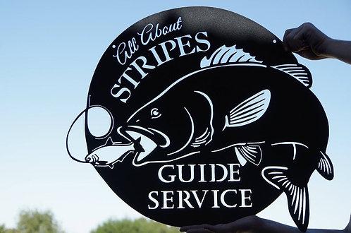 Custom Bass Fishing Sign
