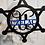 Thumbnail: Police Star Split Monogram | Metal Monogram | Framed Family Initial | Letter Doo