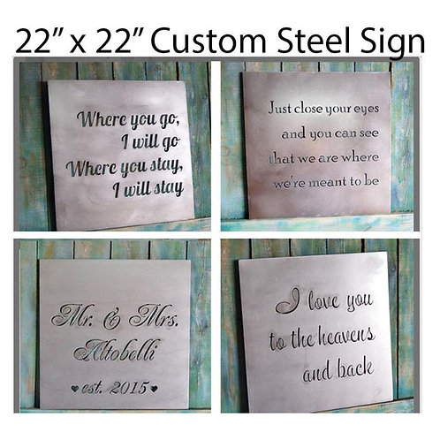 Anniversary gift, Custom Metal Quote Sign and Sayings, Inspirational Personalize