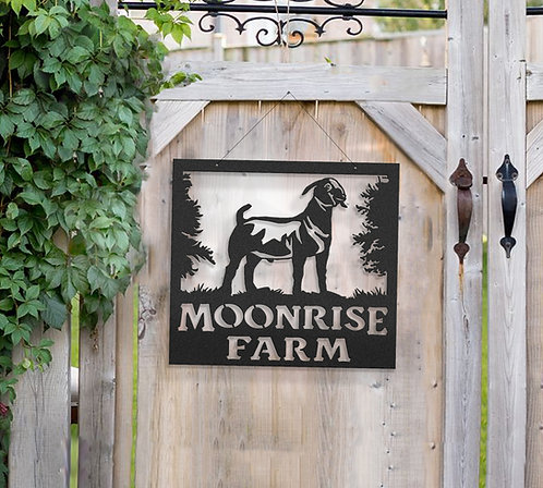 Boer Goat Metal Farm Sign