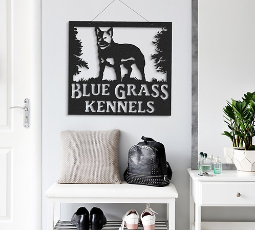 Heeler Custom Indoor or Outdoor Metal Dog Sign