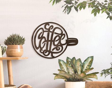 Metal Coffee Sign ~ Coffee Bar Decoration
