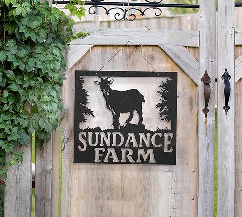 Pygmy Goat Farm Sign