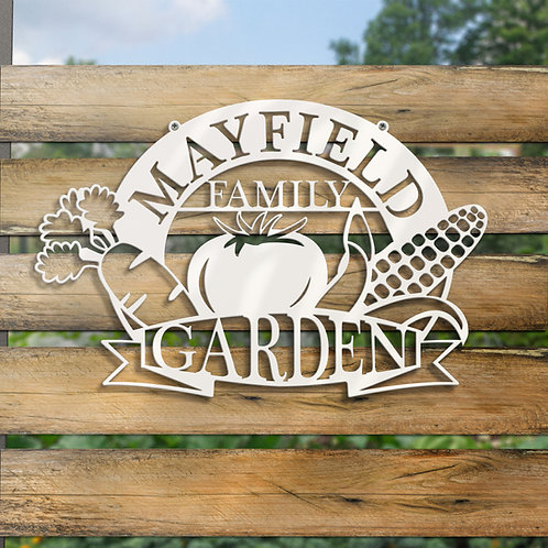 Custom Family Vegetable Garden Sign