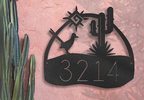 Address Number Adobe Southwest Decor Sign