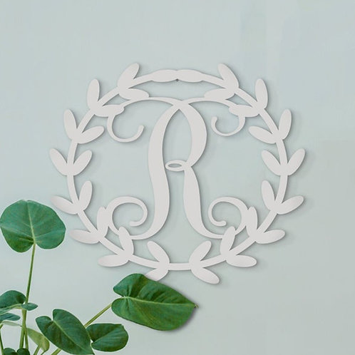 Metal Leaf Monogram ~ You Choose The Letter
