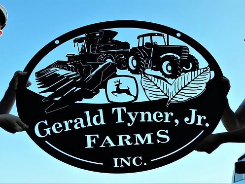 Tobacco Farming Sign | Combine and Tractor Personalized Sign