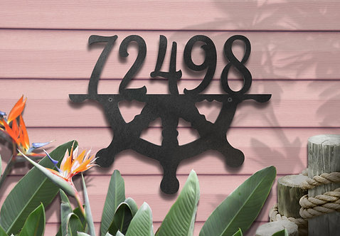Metal Address Numbers, Beach House Decorations