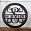 Thumbnail: Circle Split Metal Name   Metal Monogram   Framed Family Initial   Letter Door S