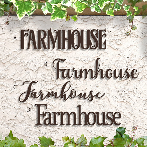 Farmhouse Script Sign, Metal Farmhouse decor