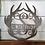 Thumbnail: Deer Antlers Split Monogram | Metal Monogram | Framed Family Initial | Letter Do