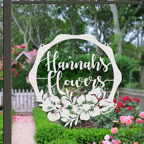 Flower Memorial Hanging Garden Sign