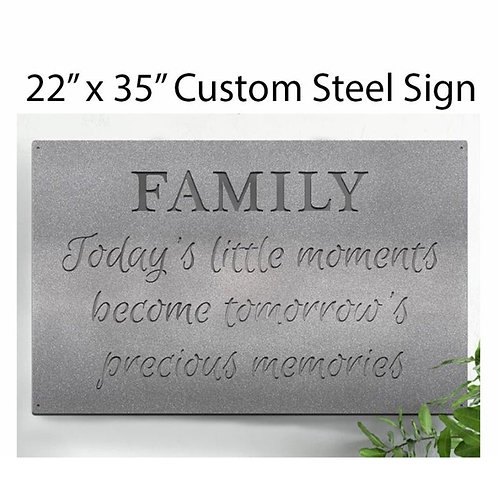 Large Metal Custom Quote Sign and Sayings, Inspirational Personalized Sign, Stee