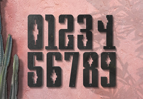 "Address Numbers, 10"" Southwest Metal Numbers"