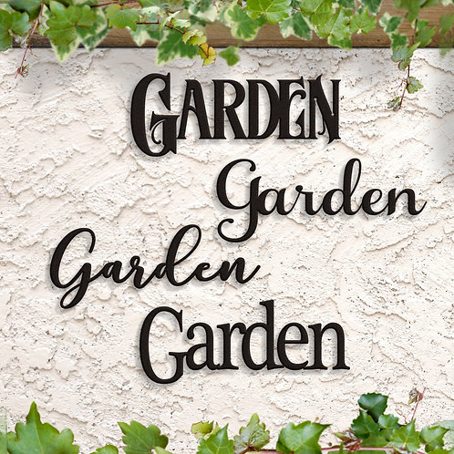 Metal Garden Words, Garden Script, Garden Decor