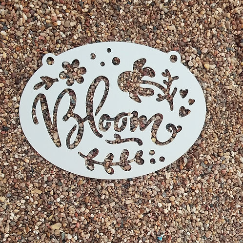 Bloom, Metal Garden Sign, Cute Garden Signs