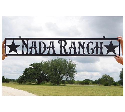 Custom Steel Star Sign Name of Ranch/ Farm
