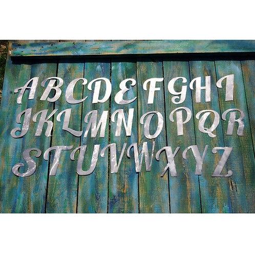 Elegant Font Steel Letter