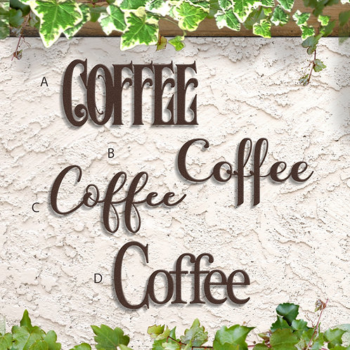 Coffee Word Sign, Coffee Bar Decor