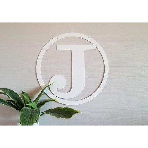 Circle Border Bold Single Letter Monogram ~ You Choose The Letter