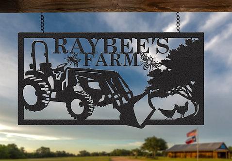 Custom Steel Farming Sign, Gift for Farmer