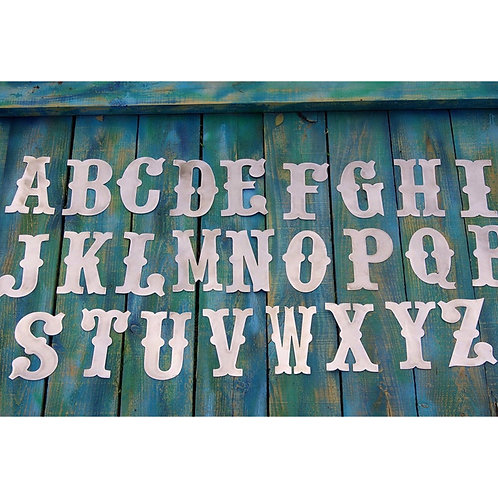 Western Font Steel Letter